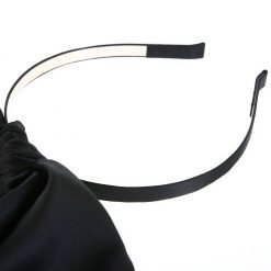 Black Rabbit Ear Ribbon Headband 2