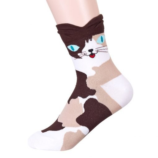 Colorful Eyes Cat Socks 1