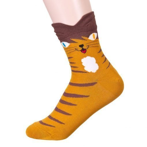 Colorful Eyes Cat Socks 2