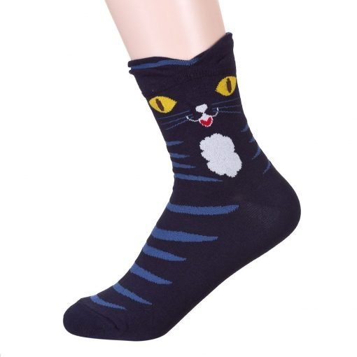 Colorful Eyes Cat Socks 3