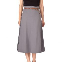 seal gray long skirt