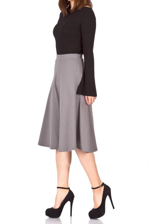 seal gray midi skirt