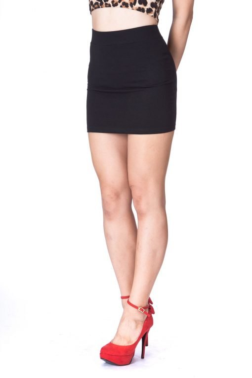 Must buy Basic Bodycon Pencil Short Mini Skirt Black 4 1