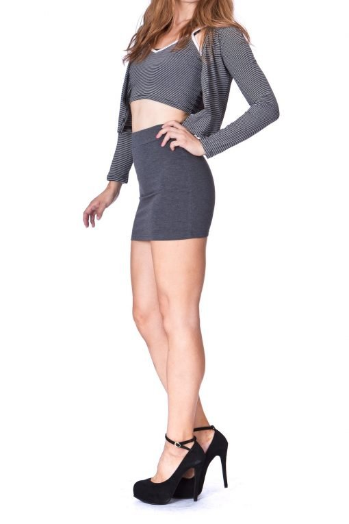Must buy Basic Bodycon Pencil Short Mini Skirt Charcoal 3 1