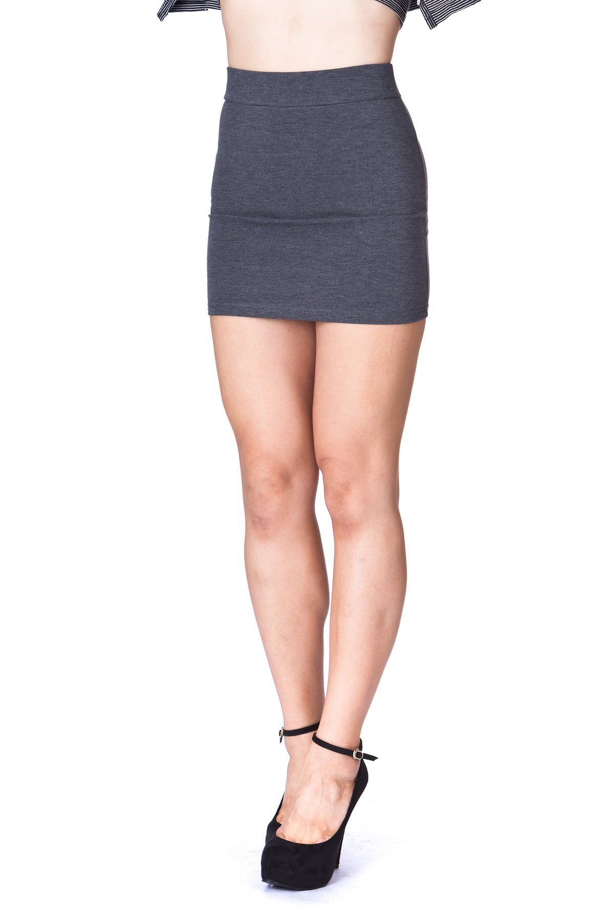 Must buy Basic Bodycon Pencil Short Mini Skirt Charcoal 5