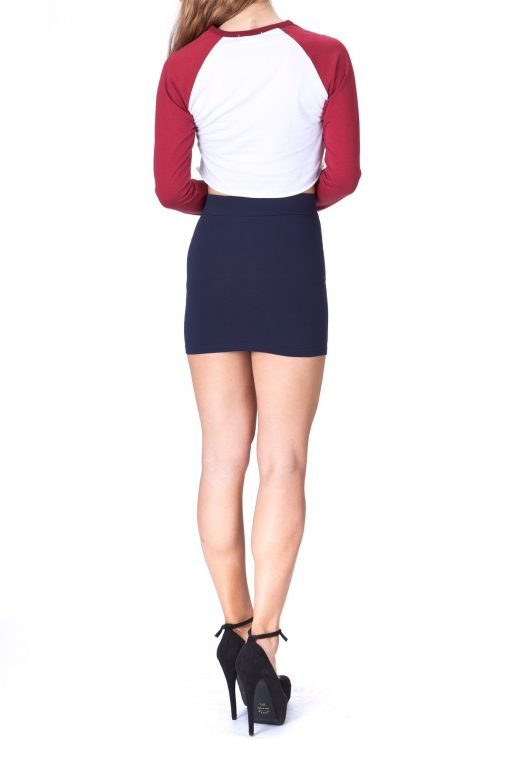 Must buy Basic Bodycon Pencil Short Mini Skirt Navy 3 1