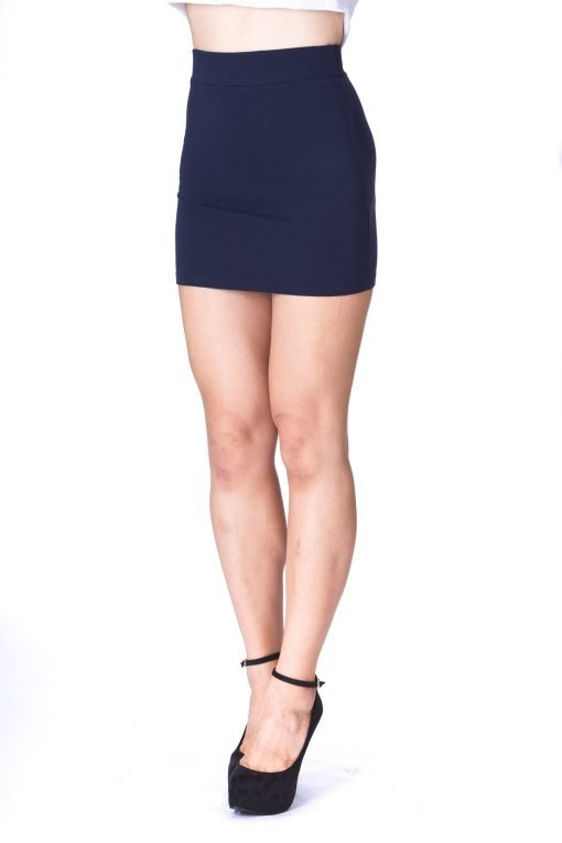 Must buy Basic Bodycon Pencil Short Mini Skirt Navy 4 1