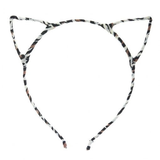 New Leopard Print Cat Ear Headband Beige 2