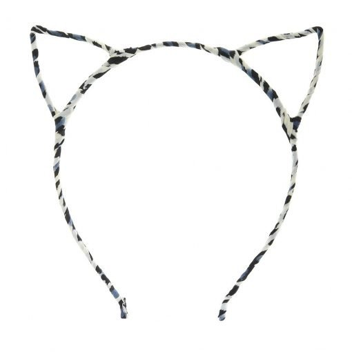 New Leopard Print Cat Ear Headband Blue 2