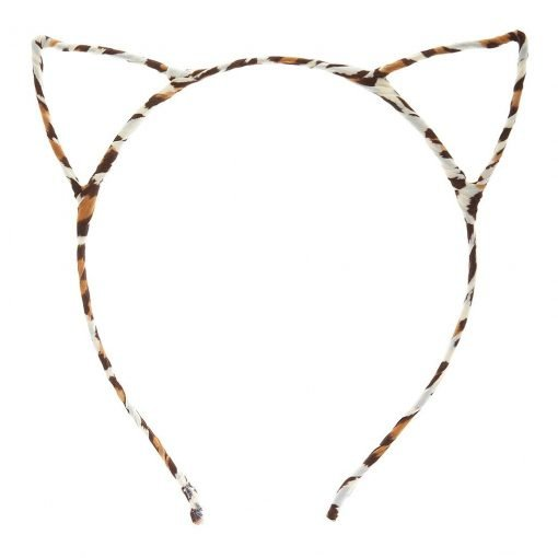 New Leopard Print Cat Ear Headband Brown 2