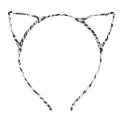 New Leopard Print Cat Ear Headband Pink 2