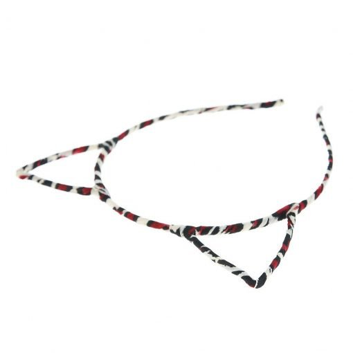New Leopard Print Cat Ear Headband Red 1