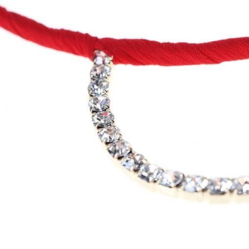 Rhinestone Bear Ear Candy Color Headband Detail