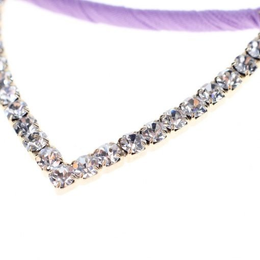 Rhinestone Cat Ear Candy Color Headband Detail