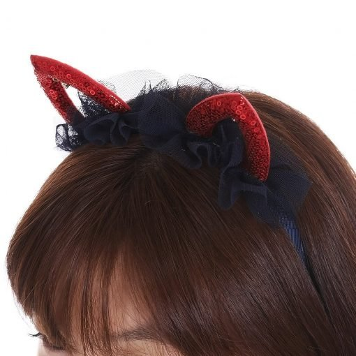 Sequined Cat Ear Headband Detail