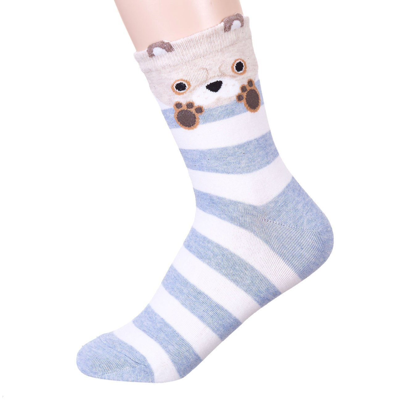 Stripe Bye Bye Animal Socks 5
