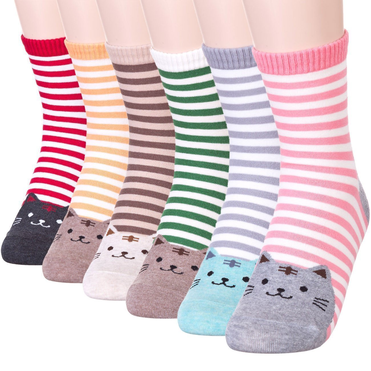Stripe Japanese Cat Socks