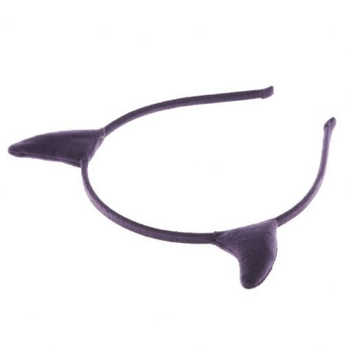 Suede Devil Horn Headband Purple 1