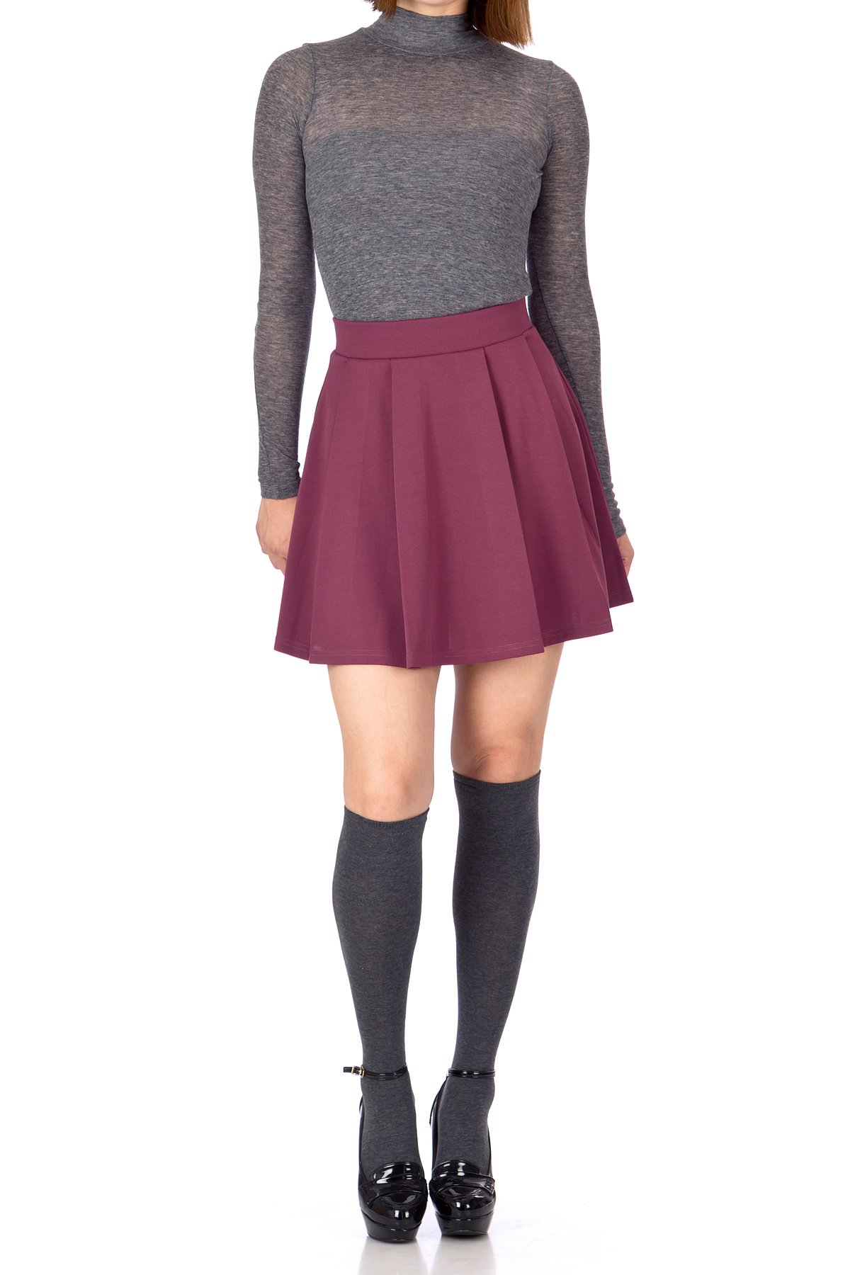 6c21a25fcb Girls Grey Pleated School Skirt