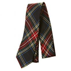 Tartan Check Plaid Tie Neck Tie Navy