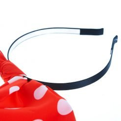 White Polka Dot Red Rabbit Ear Ribbon Headband 2