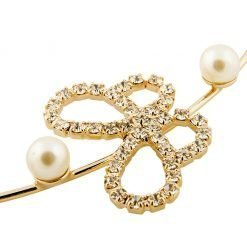 artificial pearl cat ear headband with rhinestone butterfly gold 2 1