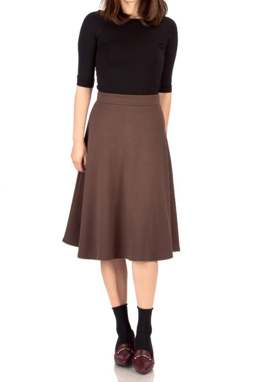 brown midi skirt 1