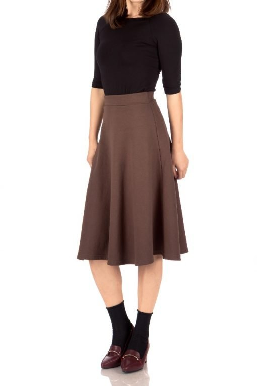 brown midi skirt 2