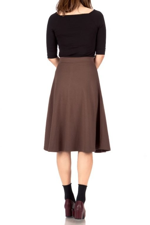 brown midi skirt 3