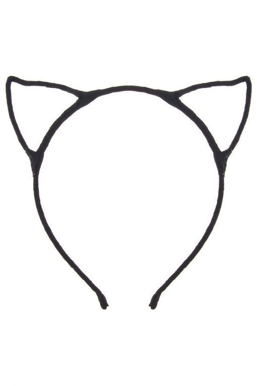 cat ear headband black