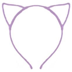 cat ear headband purple