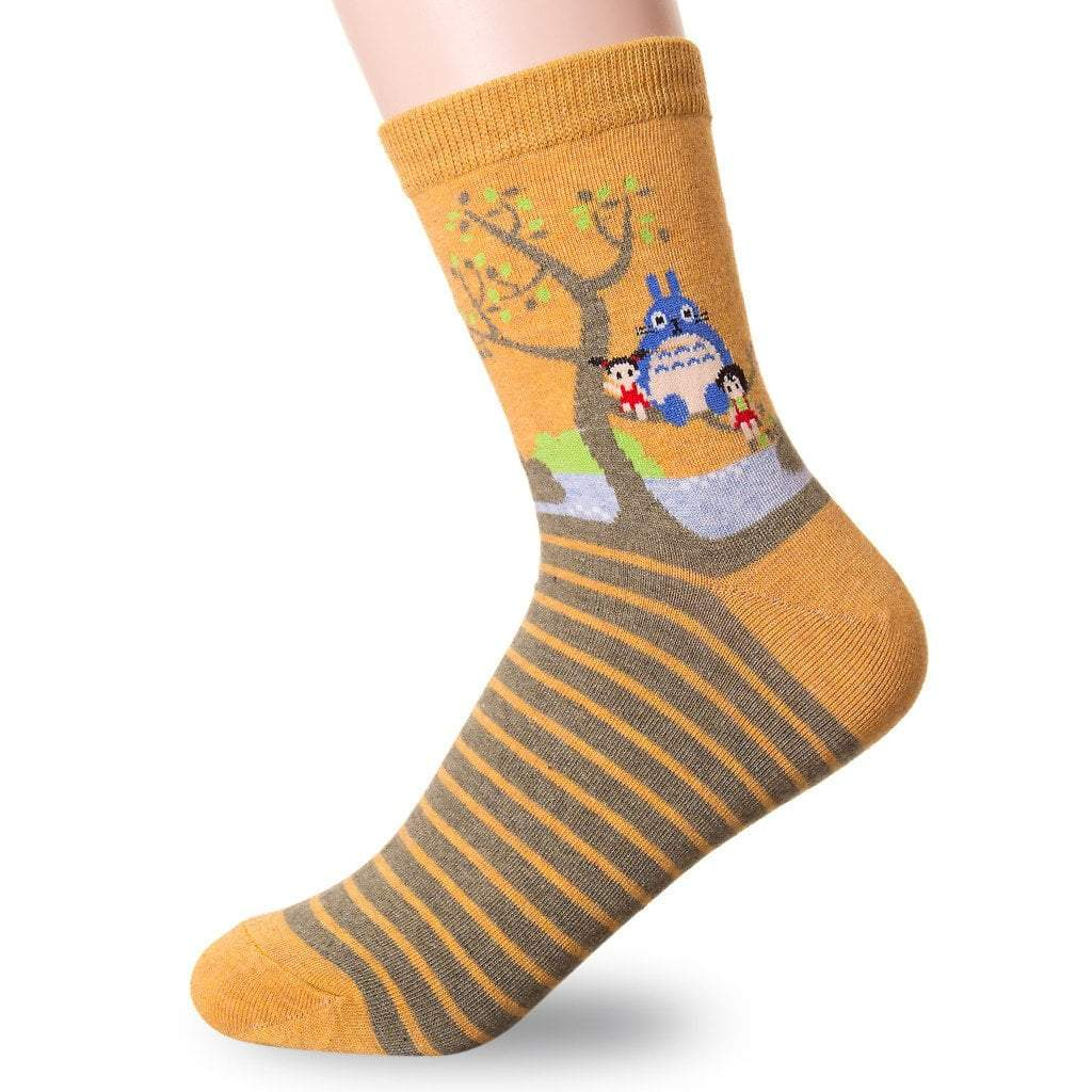 famous japanese animation print crew socks 1 1