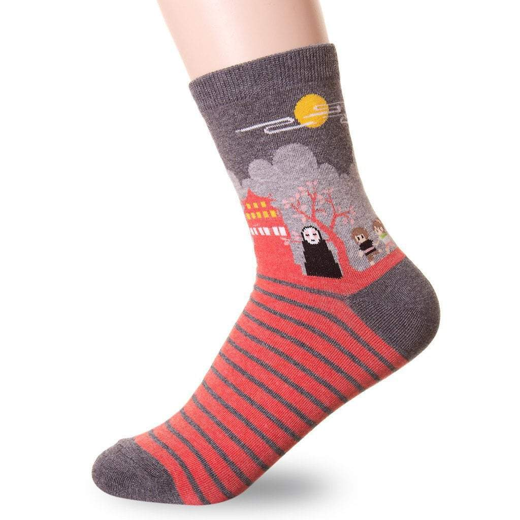 famous japanese animation print crew socks 4 1