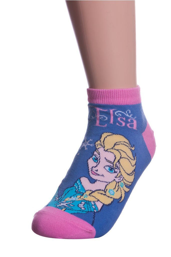 frozen princess elsa print ankle socks pink 2