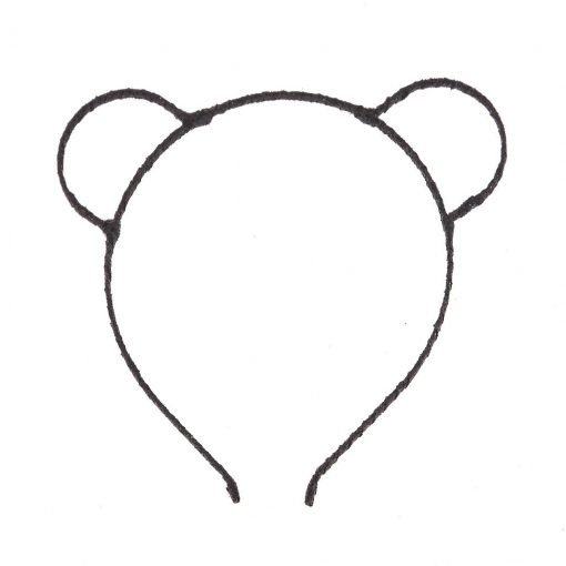 glitter bear ear headband black