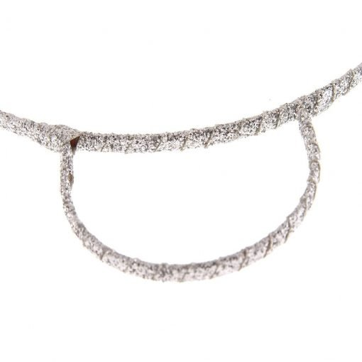 glitter bear ear headband silver 2