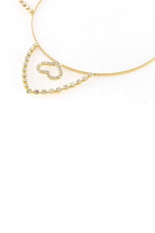 inner heart rhinestone cat ear steel headband gold 2