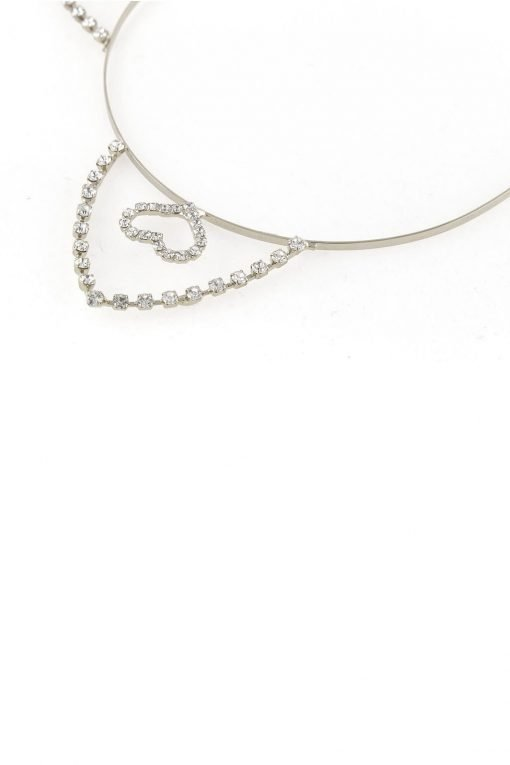 inner heart rhinestone cat ear steel headband silver 2