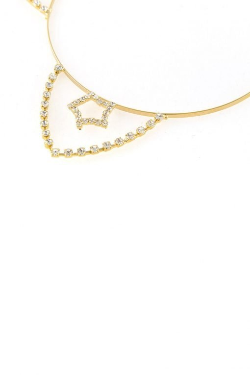 inner star rhinestone cat ear steel headband gold 2
