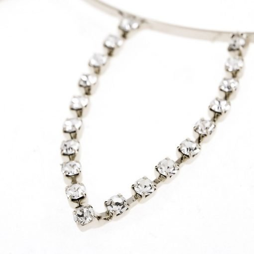 rhinestone rabbit ear steel headband silver 2