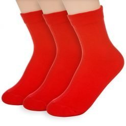 Basic Solid Socks Red 3Pairs
