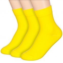 Basic Solid Socks Yellow 3Pairs