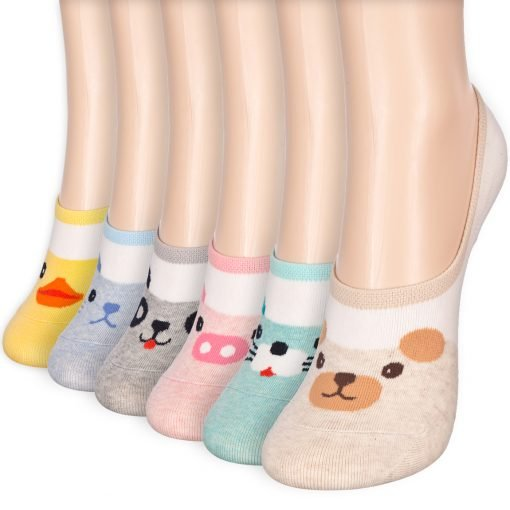 animal character low cut socks