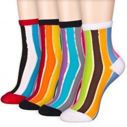 rainbow transparent socks